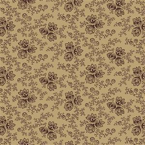 Wildflower Woods in Beige Floral Fabric 0.5m