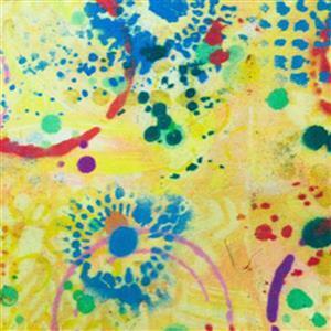 Pizzazz in Graffiti Lemon Fabric 0.5m