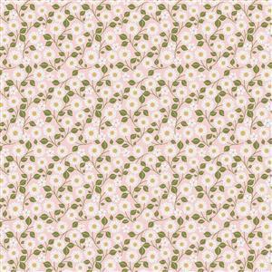 Poppie Cotton Farmgirls Unite Hippy Chick On Pink Fabric 0.5m