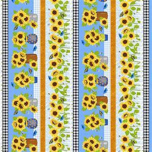 Sunny Sunflowers in Sunflower Shelf Fabric 0.5m
