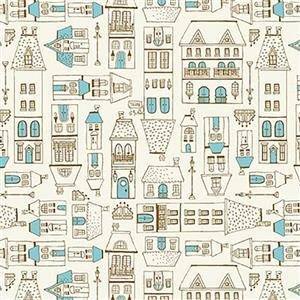 Michael Miller City Hoppers City Scene Blue Fabric 0.5m