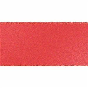 Coral Double Faced Satin: 1m x 5mm