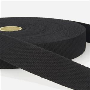 Black Cotton Webbing 1m x 40mm