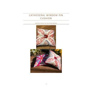 Cathedral Window Pincushion Instructions and Template by Delphine Brooks