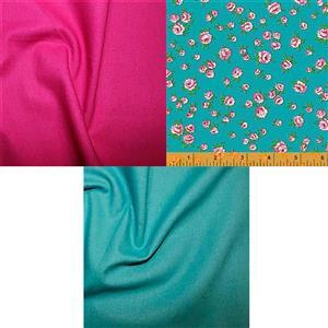 Jade & Pomegranate Posy Fabric Mixer Bundle (1.5m)