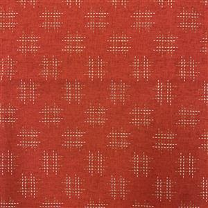 Miho Japanese Stitches on Red Fabric 0.5m