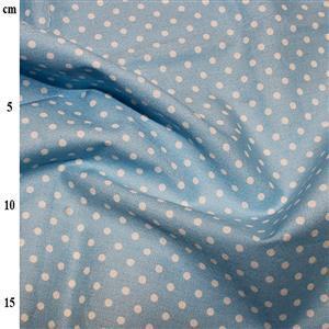 Rose and Hubble Cotton Poplin Spots on Aqua Fabric 0.5m