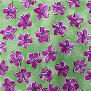 Whimsy Daisical in Pretty Green Fabric 0.5m