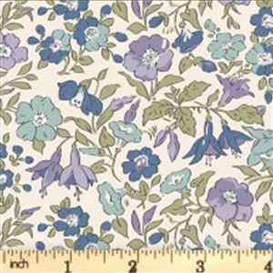 Liberty English Garden Collection Plumb Mamie Fabric 0.5m