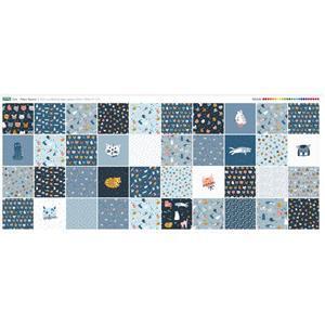 Cat Design Fabric Panel 40 x Fabric Squares (140 x 59cm)