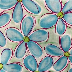 Whimsy Daisical in Blue Daisy Field Fabric 0.5m