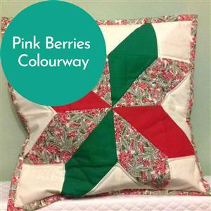 Debbie Shore's Pink Berries Lone Star Cushion Kit: Instructions & Fabric (2m)