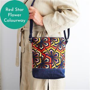 Sewgirl 3-in-1 Boho Bag Kit Red Star Flower: Fabric & Instructions
