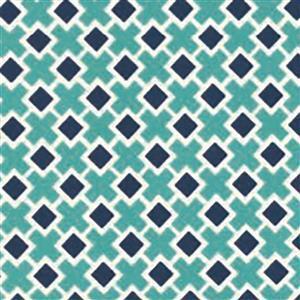 Moda Homestead Crosses on Blue Fabric 0.5m