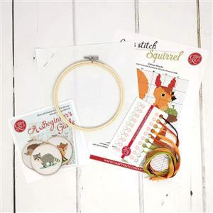 The Crafty Kit Company Squirrel Cross Stitch Kit
