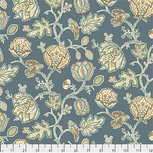 William Morris Orkney  Theodesia Blue Fabric 0.5m