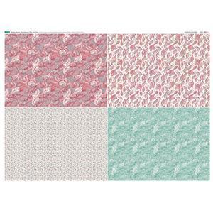 Paisley Grove 4 FQ's Fabric Panel 1 - 140 x 105cm Exclusive