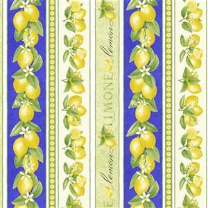Just Lemons in Rows Fabric 0.5m