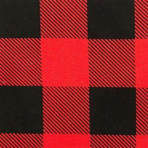 Man Cave in Red and Black Checkered Fabric 0.5m