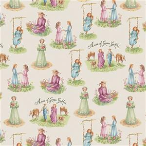 Riley Blake Anne of Green Gables Parchment Happy Family Fabric 0.5m