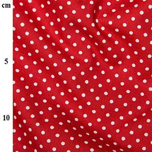 Rose and Hubble Cotton Poplin Spots on Red Fabric 0.5m