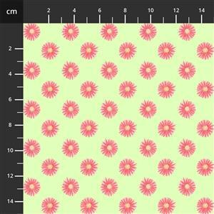 Let's Flamingle Floral Lime Fabric 0.5m