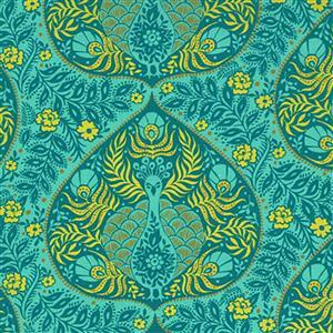 Moda Kasada Ikat Aqua Fabric 0.5m