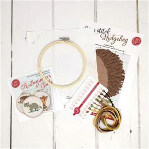 The Crafty Kit Company Hedgehog Cross Stitch Kit