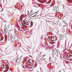 Moda Moody Bloom Rose Pink Fabric 0.5m