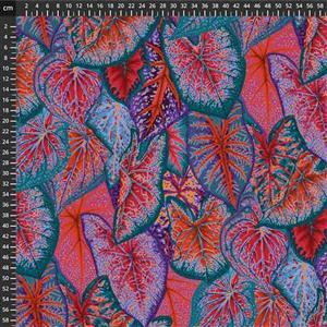 Kaffe Fassett Collective Red Tropical Leaves Fabric 0.5m