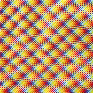 Rainbow Criss Cross Fabric 0.5m