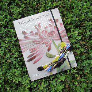 The Kew Book of Embroidered Flowers by Trish Burr with 5 Free DMC Skeins