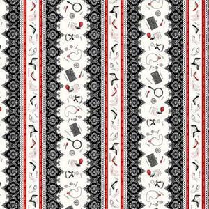 Couture Noir Accessory Stripe Fabric 0.5m