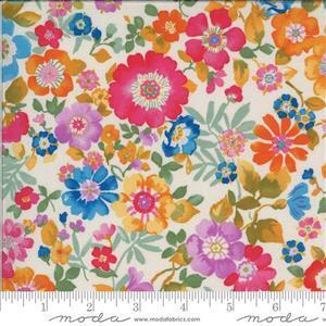 Moda Lulu in Cream Floral Multi Fabric 0.5m