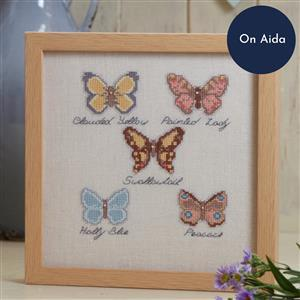 The Cross Stitch Guild Butterfly Collection on Aida, Exclusive to Sewing Street until 1st March