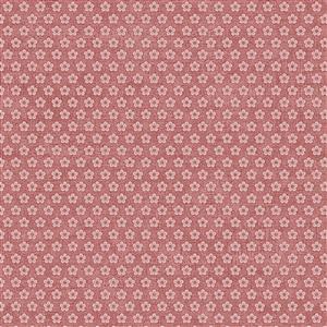 Hannah Basic Flowers on Rose Fabric 0.5m