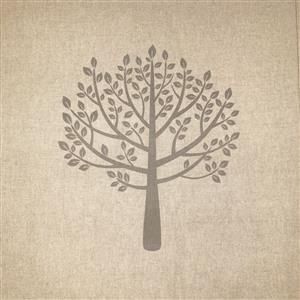 Mulberry Trees Grey Linen-Look Panel (0.46m x 0.46m)