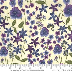 Moda Violet Hill in Cream Floral Fabric 0.5m