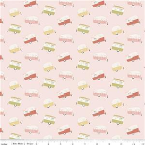 Riley Blake Joy In The Journey in Pink Caravan Fabric 0.5m