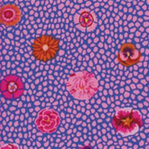 Kaffe Fassett Classics Emperor Flowers On Purple Fabric 0.5m