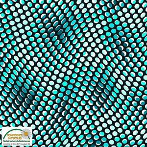 Stof Quilters Co-Ordinates Psychedelic Aqua Dots Fabric 0.5m