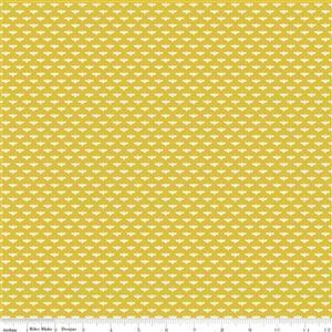 Riley Blake Tea With Bea Mustard Bee Fabric 0.5m