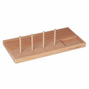 Milward Beech Wood Ruler Rack with 6 Slots