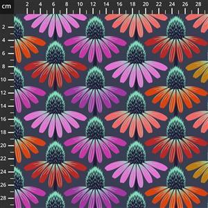 Anna Maria Horner Love Always Purple and Pink Flower Head Fabric 0.5m