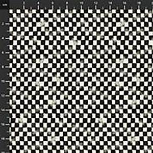 Life's Receipes Checkerboard on Ivory Fabric 0.5m