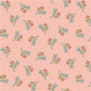 Henry Glass Tarrytown Tiny Spray on Pink Fabric 0.5m