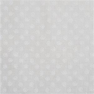 Tone on Tones Cream Tossed Swirls Fabric 0.5m