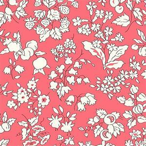 Liberty Orchard Garden Collection Red Fruit Silhouette Fabric 0.5m