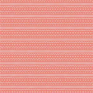Riley Blake Easter Egg Hunt Stripes Coral Fabric 0.5m