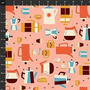 Simple Pleasures 3 on Pink Fabric 0.5m